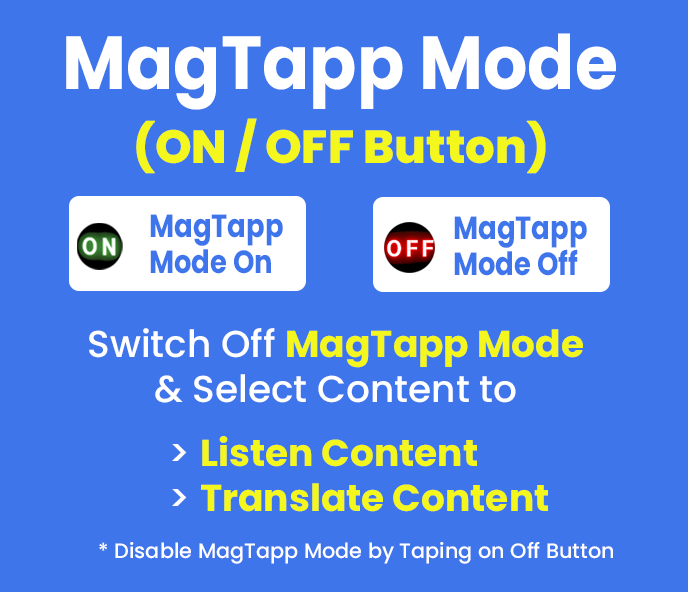 MagTapp Mode On & OFf