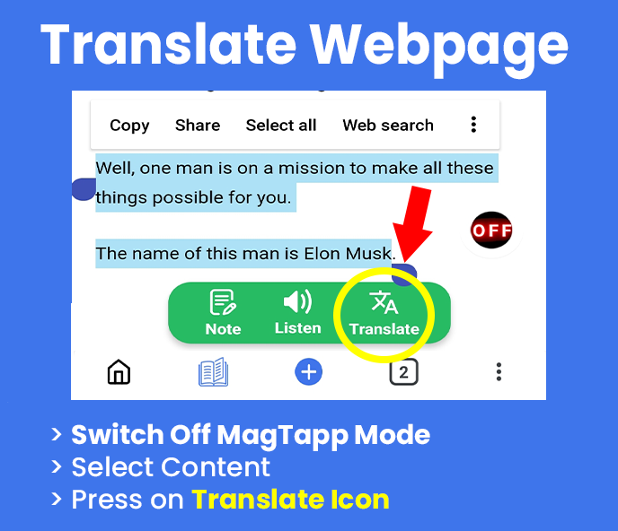 Translate Web page