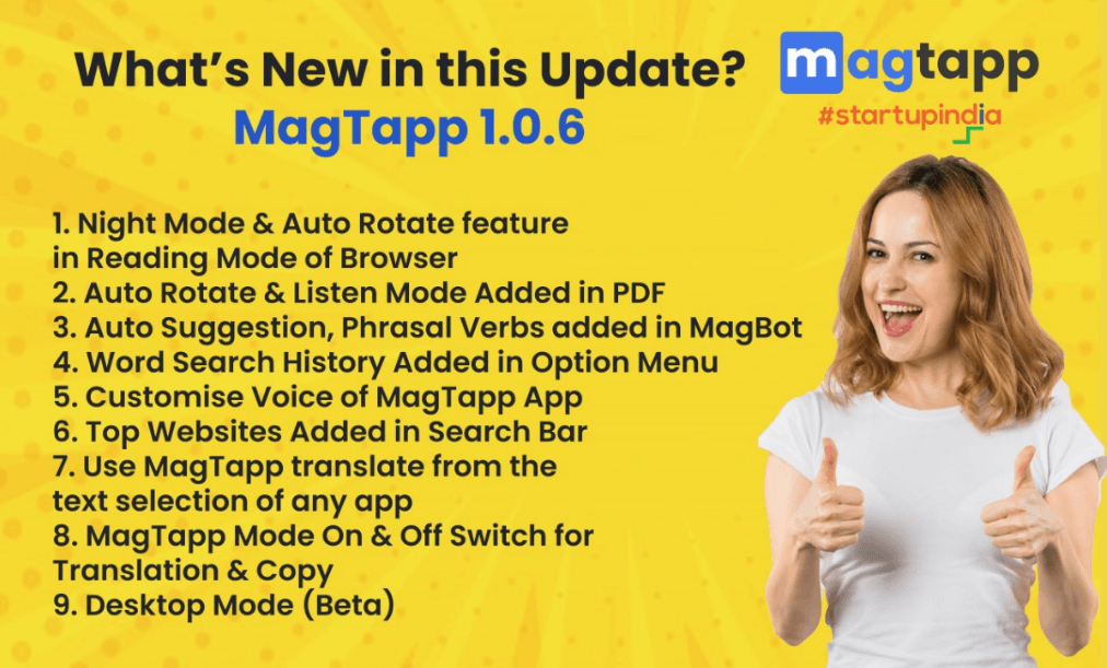 Whats new in MagTapp 1.0.6