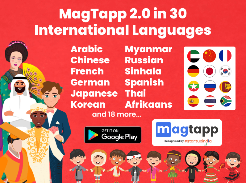 MagTapp Image Dictionary 30 International Languages